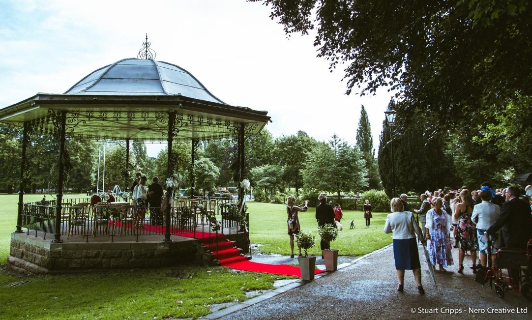 bandstand wedding day