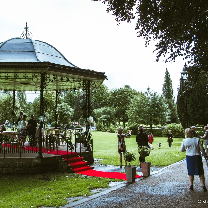 bandstand wedding day