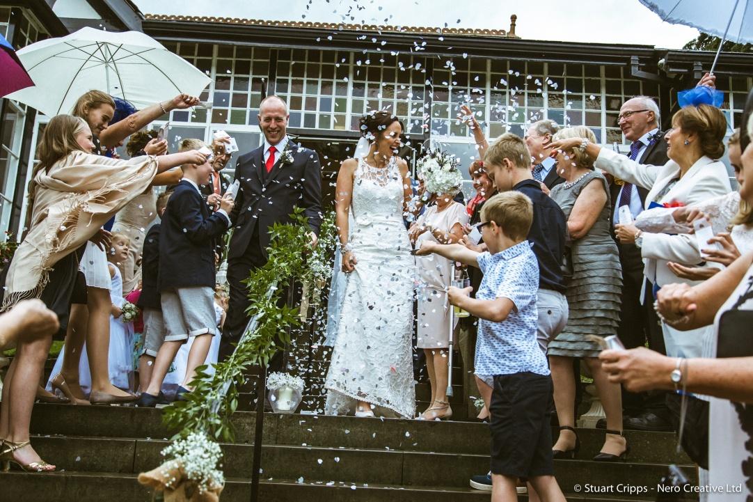 kara and rob wedding steps