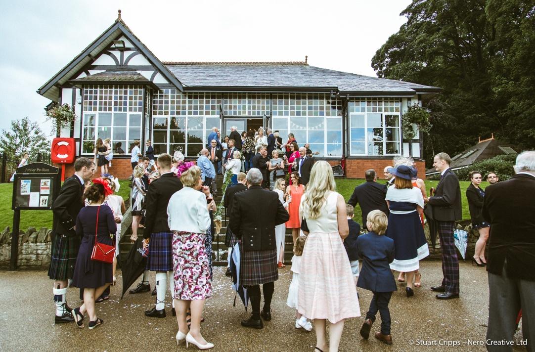pavilion wedding day