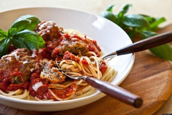 Pasta special on Italian night