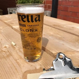 A pint on the terrace