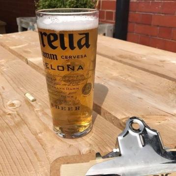 A pint on the terrace