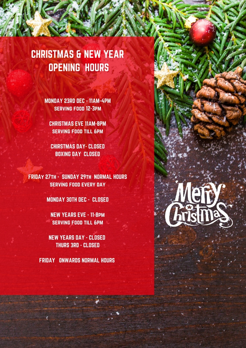 CHRISTMAS OPENING TIMES FINAL